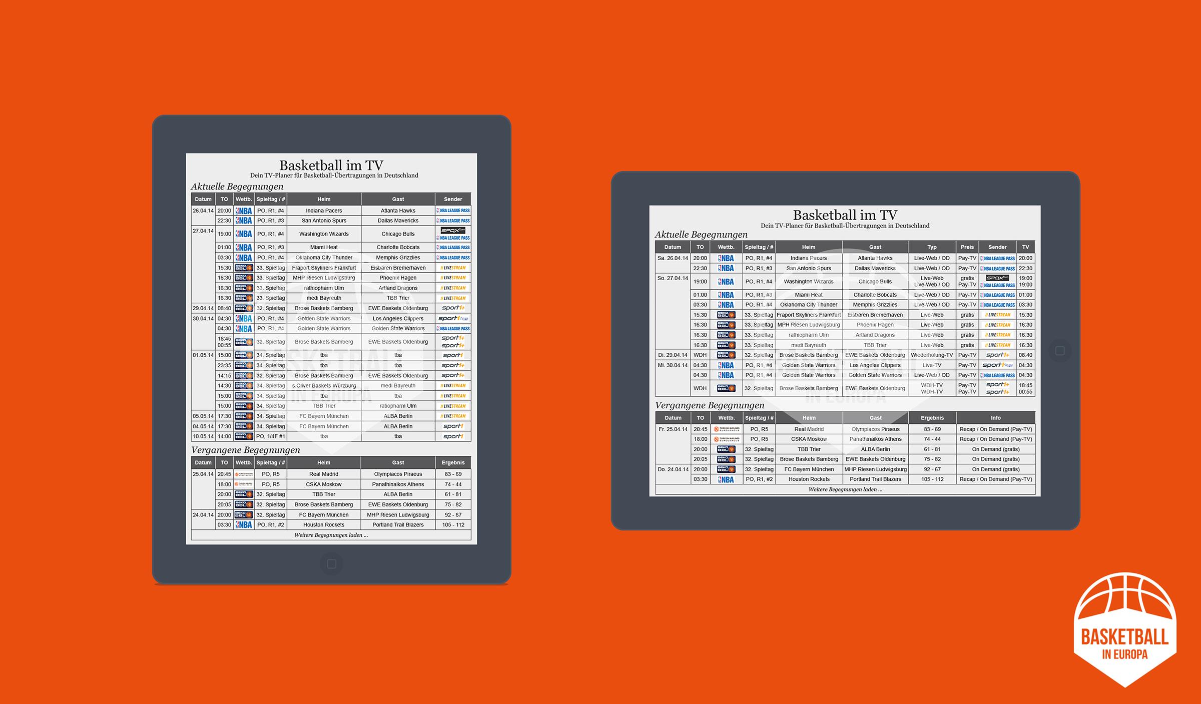 TV-Planer Tablet Version (Um diese in Orginalgröße betrachten zu können bitte auf die Grafik klicken.)